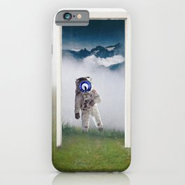 The Doorway-Astronaut in the Portal-Surreal Collage iPhone Case