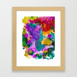 Joy - In the Garden Framed Art Print
