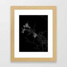 Darwin map Australia Framed Art Print