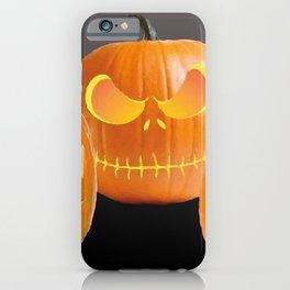 Orange Halloween Pumpkin faces iPhone Case