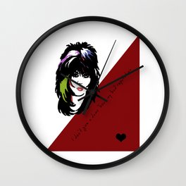 Bad Reputation | Joan Jett Inspired Lyric Art Print Wall Clock