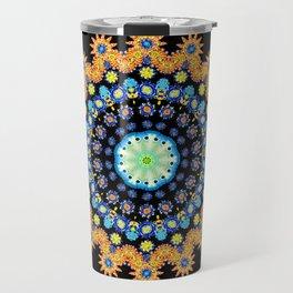 Under The Sea II Psychedelic Kaleidoscopic Mandala Travel Mug