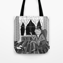 """Now, Play dead."" Tote Bag"
