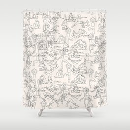 Yoga Manuscript Shower Curtain