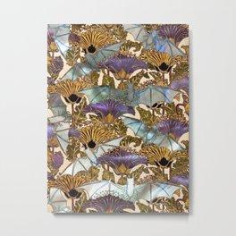 Art Nouveau Bats - Pearl Variation Metal Print