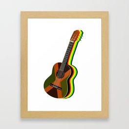 Reggae Guitar Framed Art Print