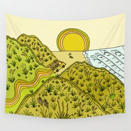 keen for a surf nz surf adventure by surfy birdy Wall Tapestry