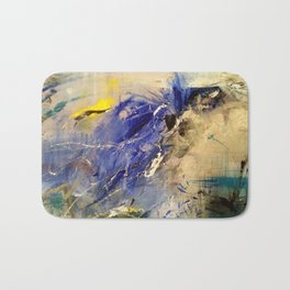 Blue and yellow Bath Mat
