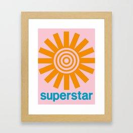Superstar Framed Art Print