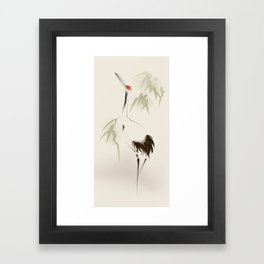 Oriental Red-Crowned Crane 001 Framed Art Print
