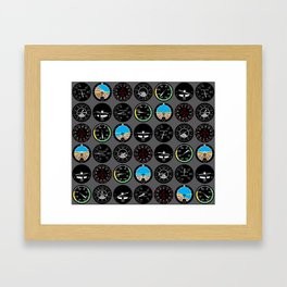 Flight Instruments Framed Art Print