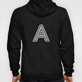 Track - Letter A - Black and White Hoody
