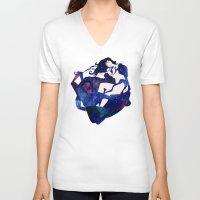 celestial V-neck T-shirts featuring Celestial by Stevyn Llewellyn