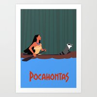 pocahontas Art Prints featuring Pocahontas by TheWonderlander