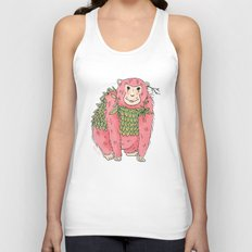 Peachtree The Chimp in Red Unisex Tank Top