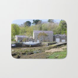 Old mill by a creek in Anglesey, Wales, United Kingdom Bath Mat