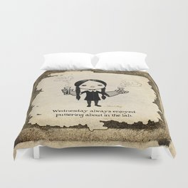 In the Laboratory Duvet Cover