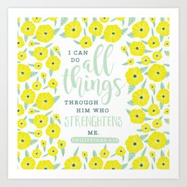 I Can Do All Things Art Print
