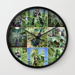 Marijuana Collage Wall Clock