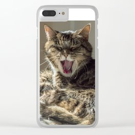 The laughing cat Clear iPhone Case
