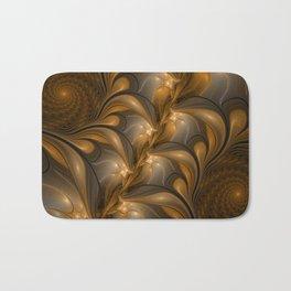 Warming, Luminous Abstract Fractal Art Bath Mat