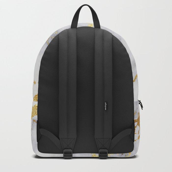 Italian gold marble Backpack