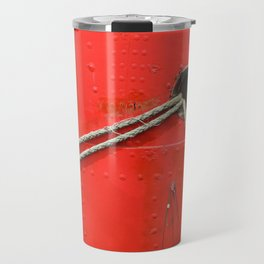 Nautical Abstract In Red Travel Mug