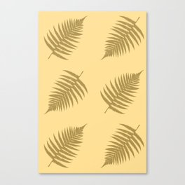 Fern pattern in cappuccino  Canvas Print