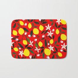 Lemons Red Bath Mat
