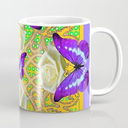 LILAC PURPLE BUTTERFLIES ABSTRACT GARDEN Coffee Mug