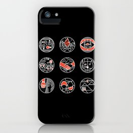 blurry icons II iPhone Case