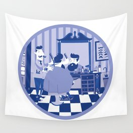 Barber hipster Wall Tapestry