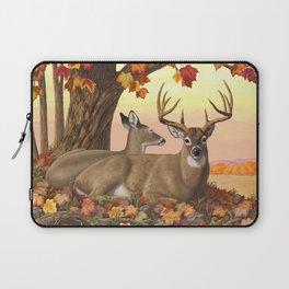 Hilltop Retreat Whitetail Deer Painting Laptop Sleeve