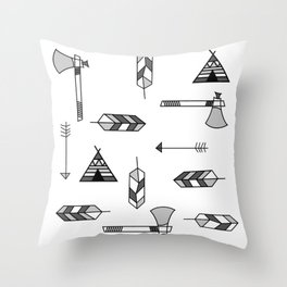 Pattern: Indian icon Throw Pillow