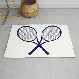 Crossed Rackets Silhouette Rug