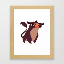 CUTE COW Framed Art Print