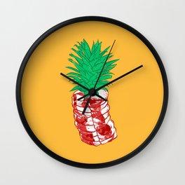 Pineapple meat Wall Clock