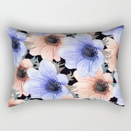 At Peace in My Garden: Floral Pattern Rectangular Pillow
