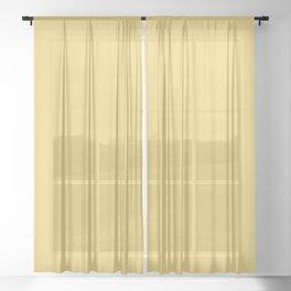 Soft Sunlight Yellow Sheer Curtain