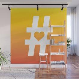 Hashtag Heart Wall Mural