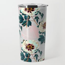 Flowery blooming with geometric Travel Mug