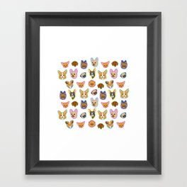 Pup Parade Framed Art Print