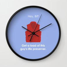 Back to the Future - Life Preserver Wall Clock