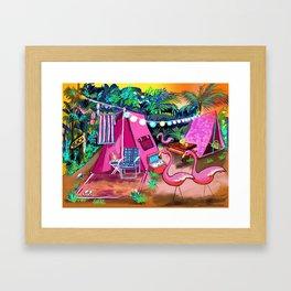 Camp PINK Framed Art Print