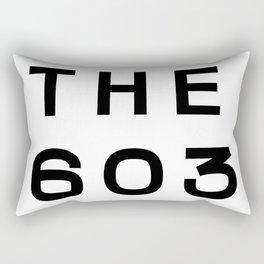 603 New Hampshire Area Code Typography Rectangular Pillow