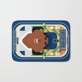 Baseball Blue Pinstripes - Deuce Crackerjack - Aretha version Bath Mat