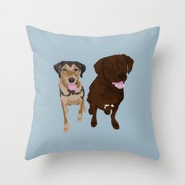 Retrievers Throw Pillow