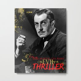 The Evil of the Thriller, Vincent Price Metal Print
