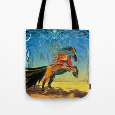 The Wind of Time (Red Horse) Tote Bag