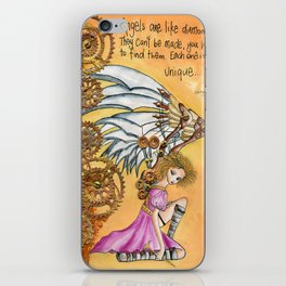 steampunk angel iPhone Skin